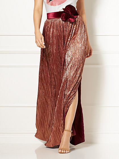 Eva Mendes Collection - Phaedra Pleated Maxi Skirt - New York & Company