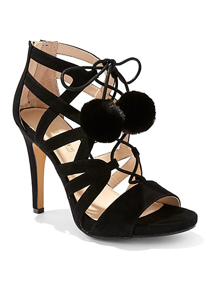 Eva Mendes Collection - Pom-Pom Gladiator Sandal - New York & Company