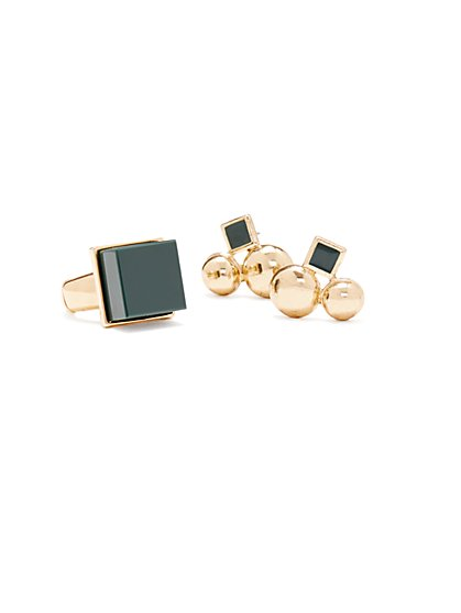Eva Mendes Collection - Ring & Earring Set  - New York & Company