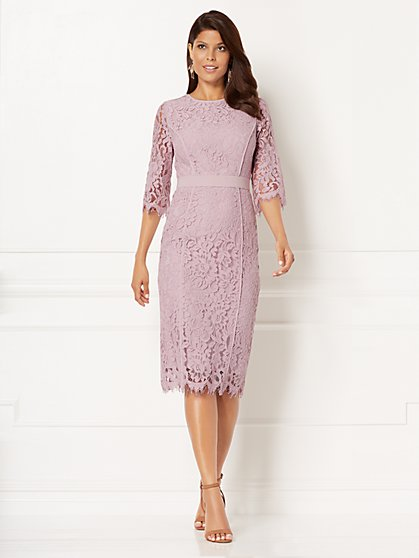 Eva Mendes Collection - Romina Lace Sheath Dress - Tall - New York & Company