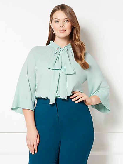 Eva Mendes Collection - Rosella Bell-Sleeve Blouse - Plus - New York & Company