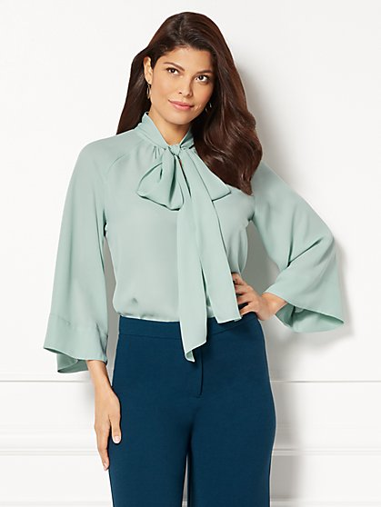 Eva Mendes Collection - Rosella Bell-Sleeve Blouse - New York & Company
