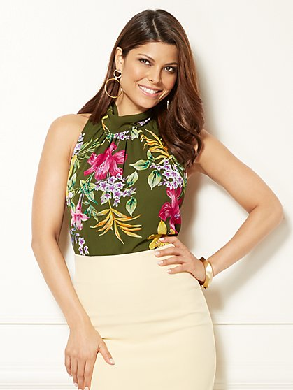 Eva Mendes Collection - Sabrina Blouse - Floral - New York & Company