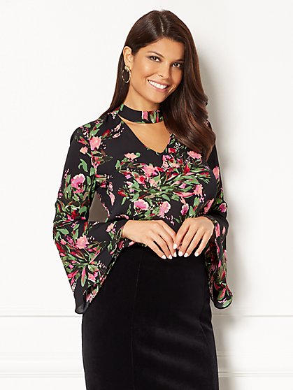 Eva Mendes Collection - Santina Blouse - Print  - New York & Company