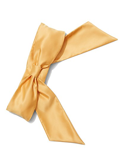 Eva Mendes Collection - Satin Bow Belt  - New York & Company