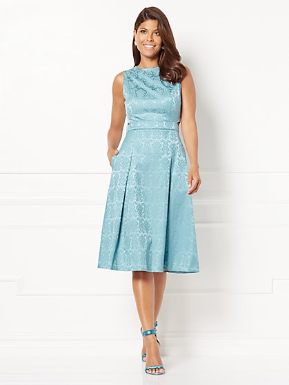 Eva Mendes Collection - Selena Cutout Flare Dress - Petite - New York & Company