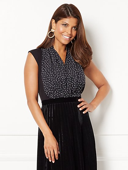 Eva Mendes Collection - Sleeveless Mila Bodysuit - Dot Print - New York & Company
