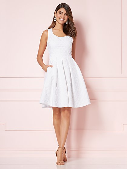 Eva Mendes Collection - Solange Fit & Flare Dress - New York & Company