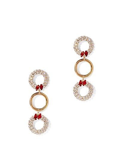 Eva Mendes Collection - Sparkling Hoop Drop Earring - New York & Company