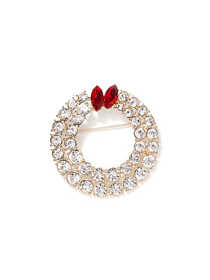 Eva Mendes Collection - Sparkling Wreath Brooch - New York & Company