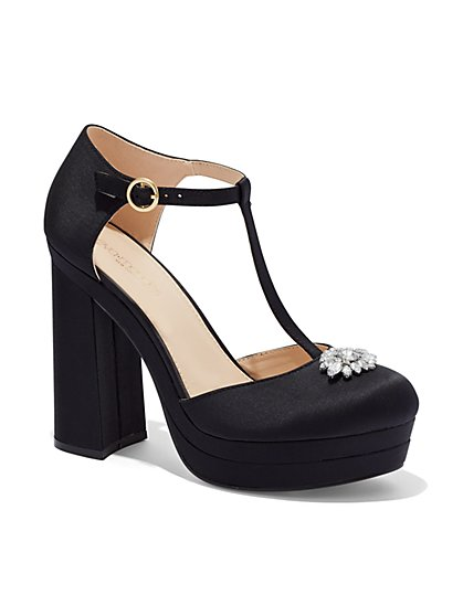 Eva Mendes Collection - T-Strap Platform Shoe  - New York & Company