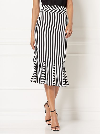 Eva Mendes Collection - Tamron Striped Pencil Skirt - New York & Company