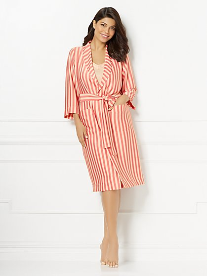 Eva Mendes Collection - Tina Robe - Stripe - New York & Company