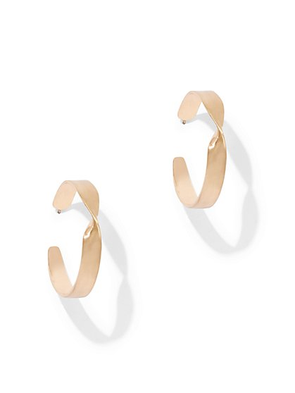 Eva Mendes Collection - Twist Hoop Earring - New York & Company