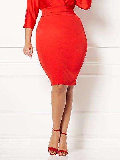 Eva Mendes Collection - Tyra Pencil Skirt - Plus - New York & Company