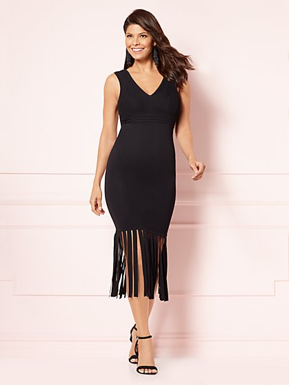 Eva Mendes Collection - Uma Fringed Sheath Dress - New York & Company
