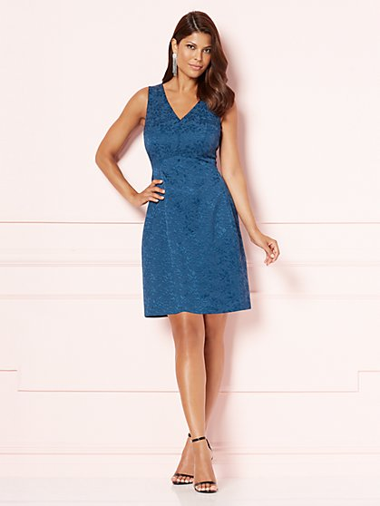Eva Mendes Collection - V-Neck Maria Dress  - New York & Company