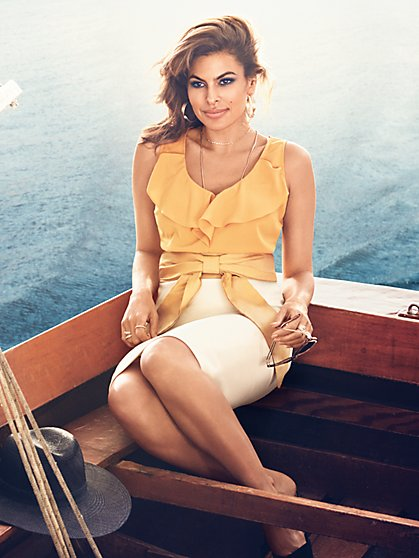 Eva Mendes Collection - Valerie Ruffle Blouse - New York & Company