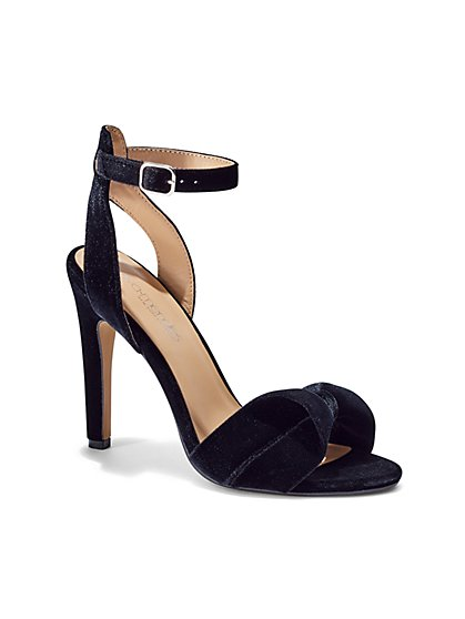 Eva Mendes Collection - Velvet Ankle-Strap Sandal  - New York & Company