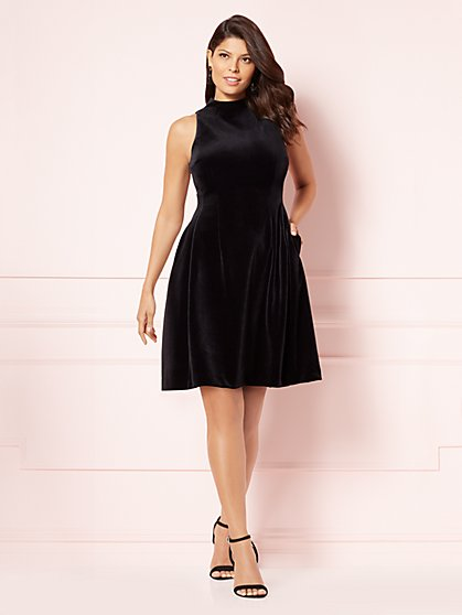 Eva Mendes Collection - Velvet Maria Dress - New York & Company