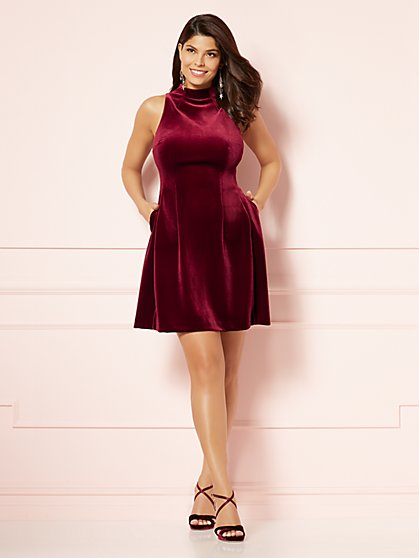 Eva Mendes Collection - Velvet Maria Dress - New York & Company