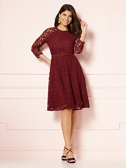 Eva Mendes Collection - Veronica Lace Flare Dress - New York & Company