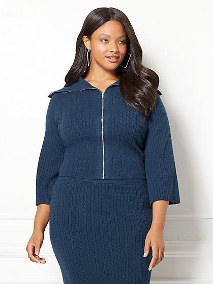 Eva Mendes Collection - Viviana Sweater Jacket - Plus - New York & Company