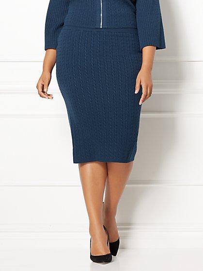 Eva Mendes Collection - Viviana Sweater Skirt - Plus - New York & Company