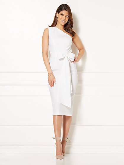Eva Mendes Collection - Yara One-Shoulder Dress - Tall - New York & Company