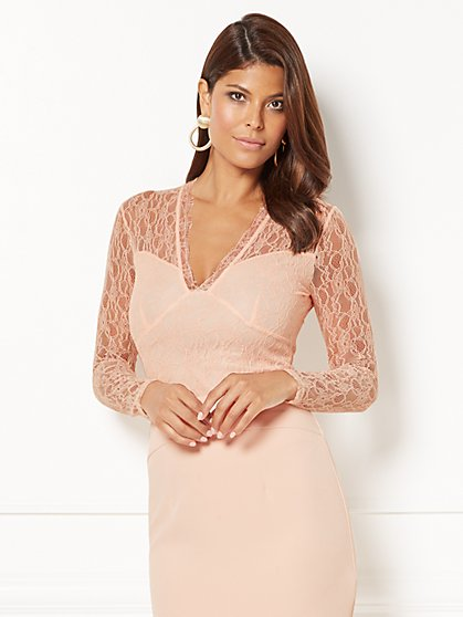 Eva Mendes Collection - Yolanda Bodysuit - Lace - New York & Company