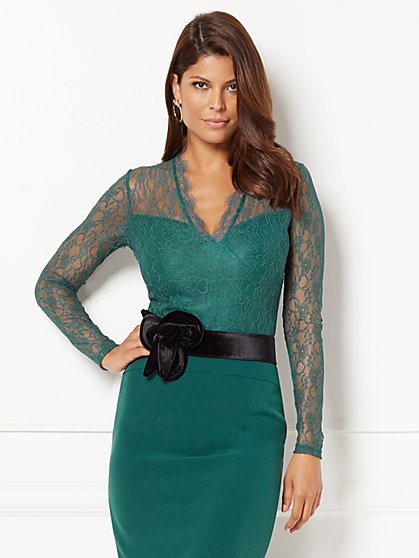 Eva Mendes Collection - Yolanda Bodysuit - Lace - New York & Company