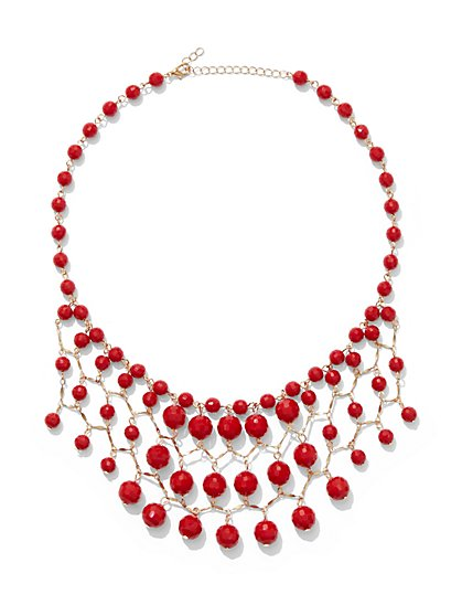 Faceted Bead Statement Necklace - New York & Company