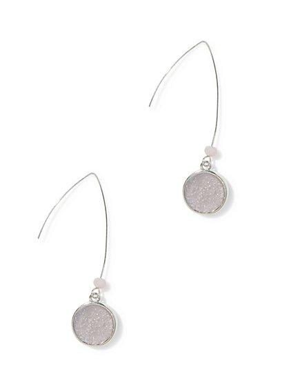 Faux-Druzy Drop Earring  - New York & Company