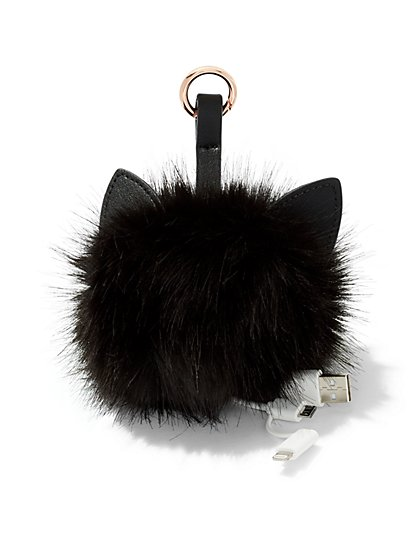 Faux-Fur Bag Charm Charger - New York & Company