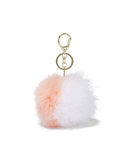Faux-Fur Pom-Pom Keychain - New York & Company