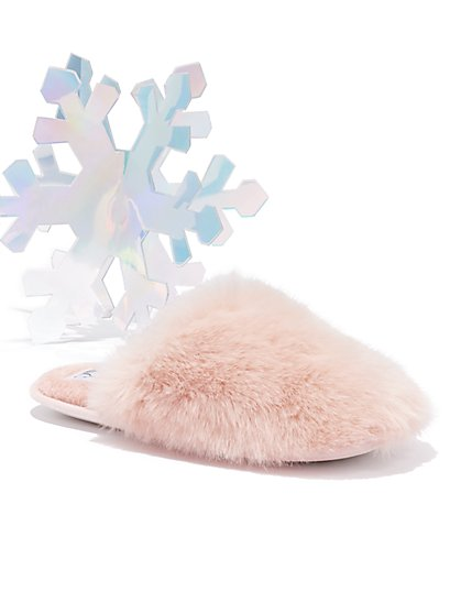 Faux-Fur Slipper - New York & Company