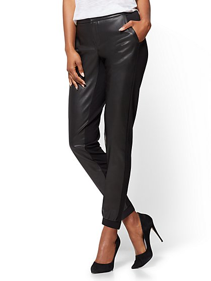 Faux-Leather Jogger Pant  - New York & Company