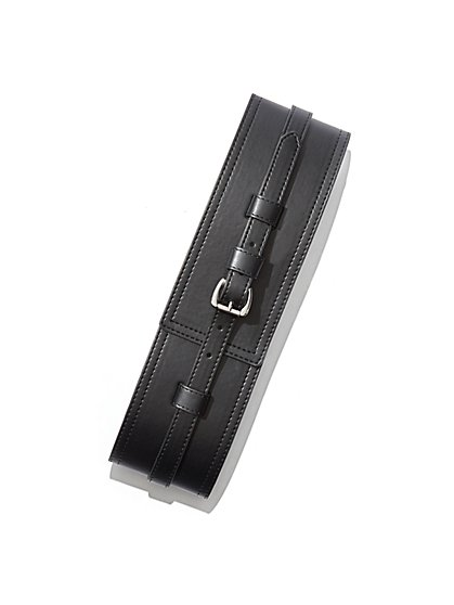 Faux-Leather Stretch Belt  - New York & Company