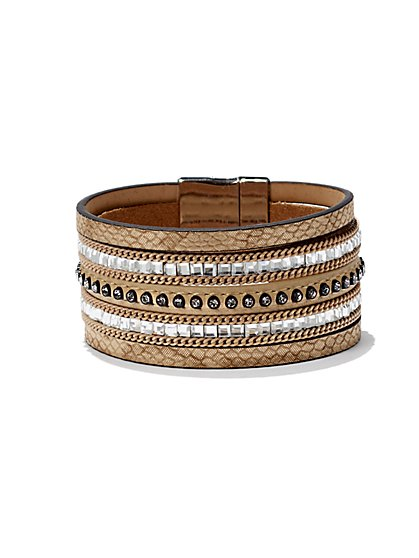 Faux-Leather Wrap Bracelet  - New York & Company
