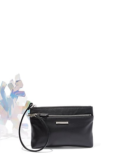 Faux-Leather Wristlet - New York & Company