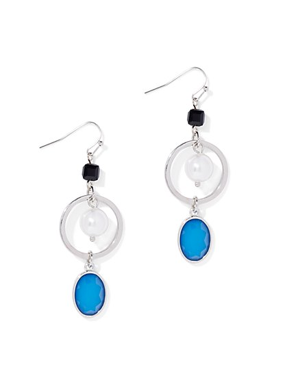 Faux-Pearl Circular Drop Earring - New York & Company