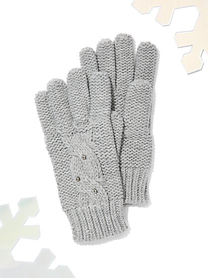 Faux-Pearl Gloves - New York & Company