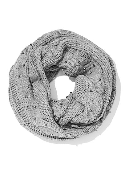 Faux-Pearl Infinity Scarf - New York & Company