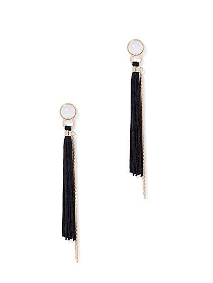 Faux-Pearl Tassel Drop Earring - New York & Company