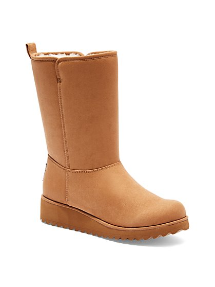 Faux-Sherpa Boot  - New York & Company