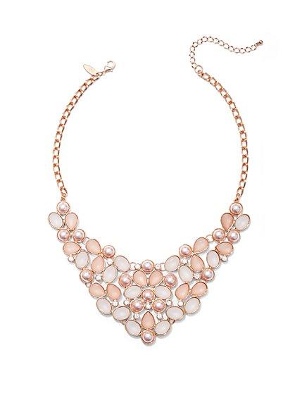 Faux-Stone Bib Necklace - New York & Company