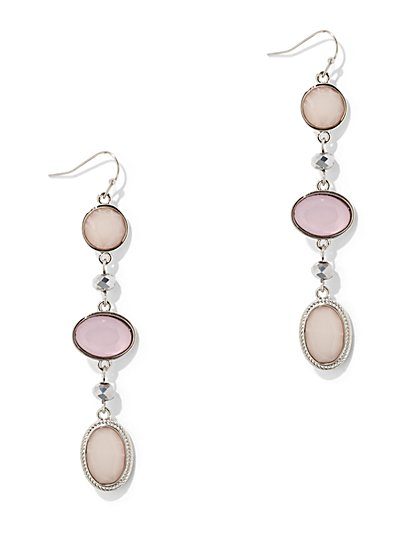 Faux Stone & Cabochon Drop Earring - New York & Company