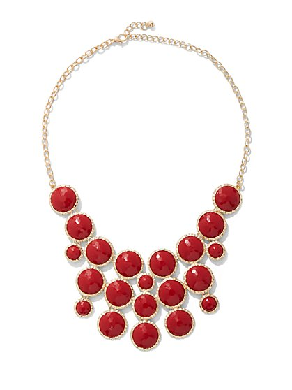 Faux Stone Statement Necklace - New York & Company