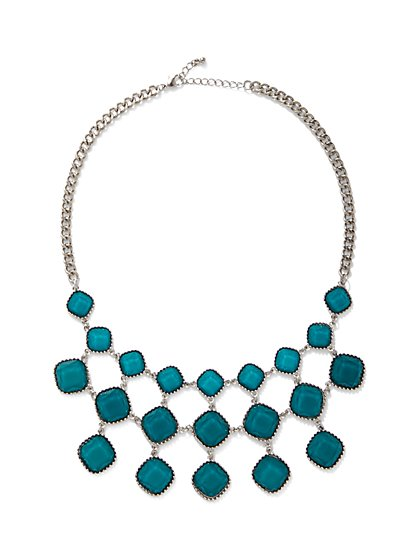 Faux-Stone Statement Necklace - New York & Company