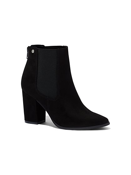 Faux-Suede Ankle Boot  - New York & Company